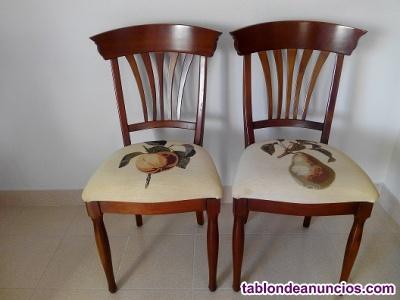 Vendo dos sillas de cerezo