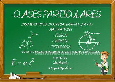 Clases particulares de química, física y matemáticas
