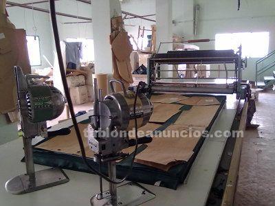 Mesa de corte confeccion con carro de estender tejido