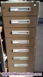 ¡oferta! fichero archivador 7 cajones con llave.