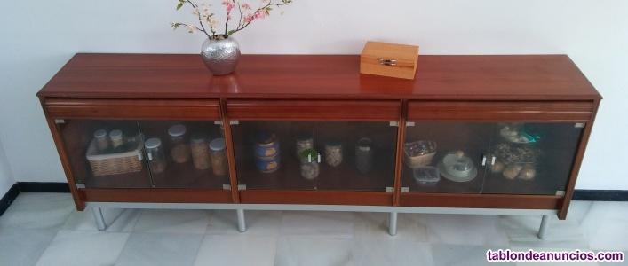 Mueble multiuso de madera 2,47 x 0,91 x 0,40