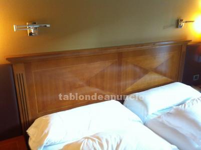 Venta mobiliario hotel madera cerezo