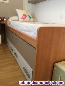 Compacto cama nido sin uso.