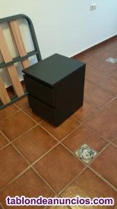 Venta de mesa de noche en color negro