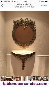Espejo tallado bronce