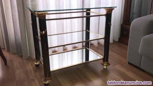 Mesa centro cristal muy elegante