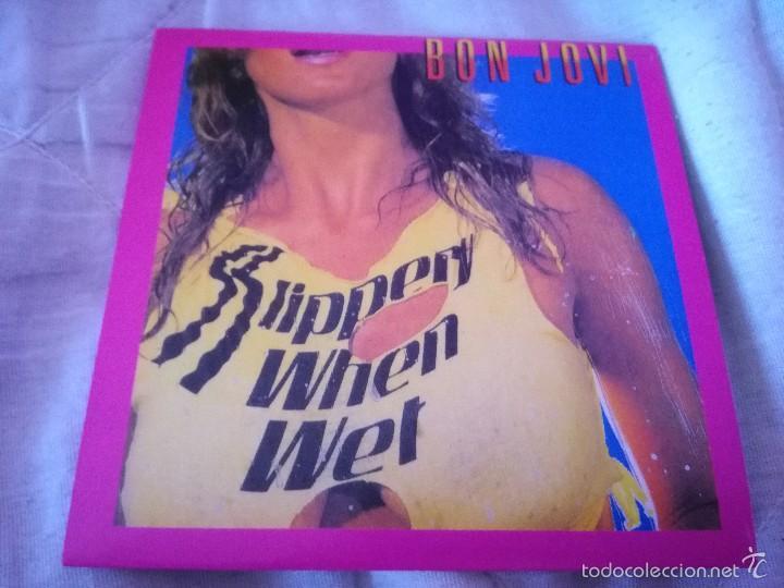 FUNDA PROMOCIONAL BON JOVI SLIPPERY WHEN WET, NO CD