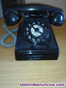 Por mudanza vendo teléfono antiguo de baquelita color