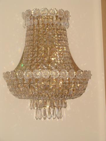 Vendo Pareja de Apliques de Pared de cristal de Strass