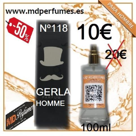 Perfume Equivalente Nº118 GERLA HOMBRE 100ml ALTA CALIDAD