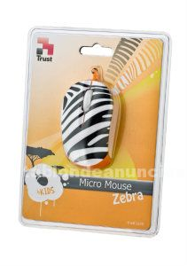 Ratón trust micro mouse zebra