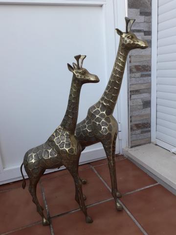 Vendo pareja de jirafas vintage