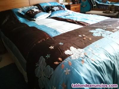 Colcha cama 230x240 con dos cojines a juego