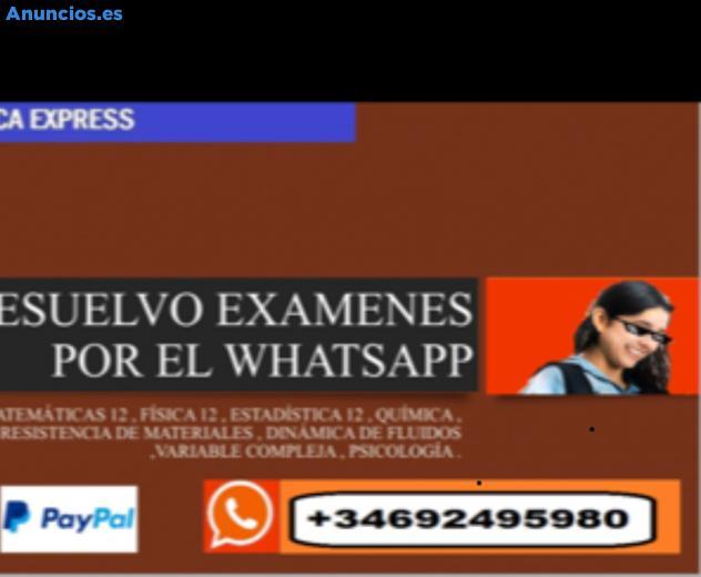 Ayuda En TFG, ExáMenes, PráCticas Por Whatsapp De CáL