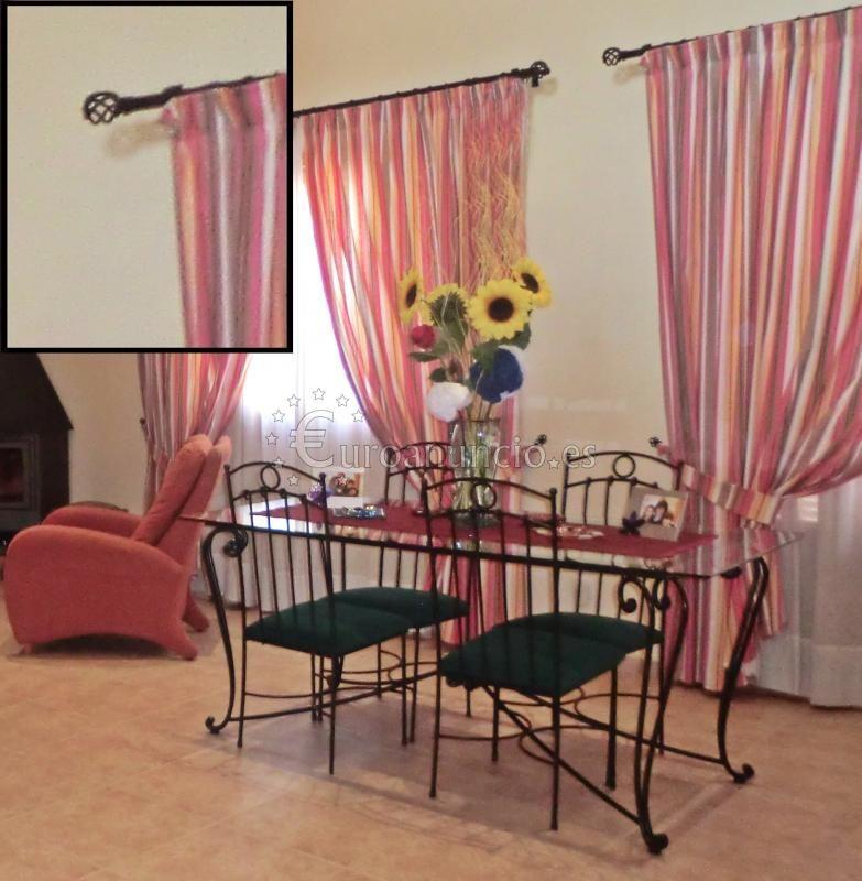 Barras de cortina de hierro + cortinas