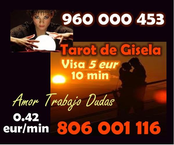 CON EL TAROT ECONÓMICO DE GISELA VISA BARATA 5 EUROS 10