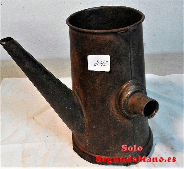 Cafetera Expres antigua de mano en Cobre (242a)
