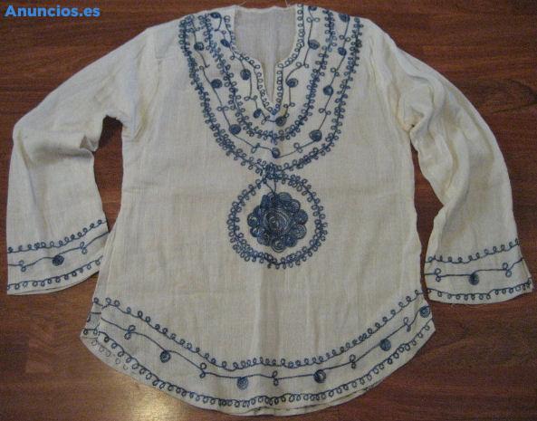 Camisa De Algodon Bordada
