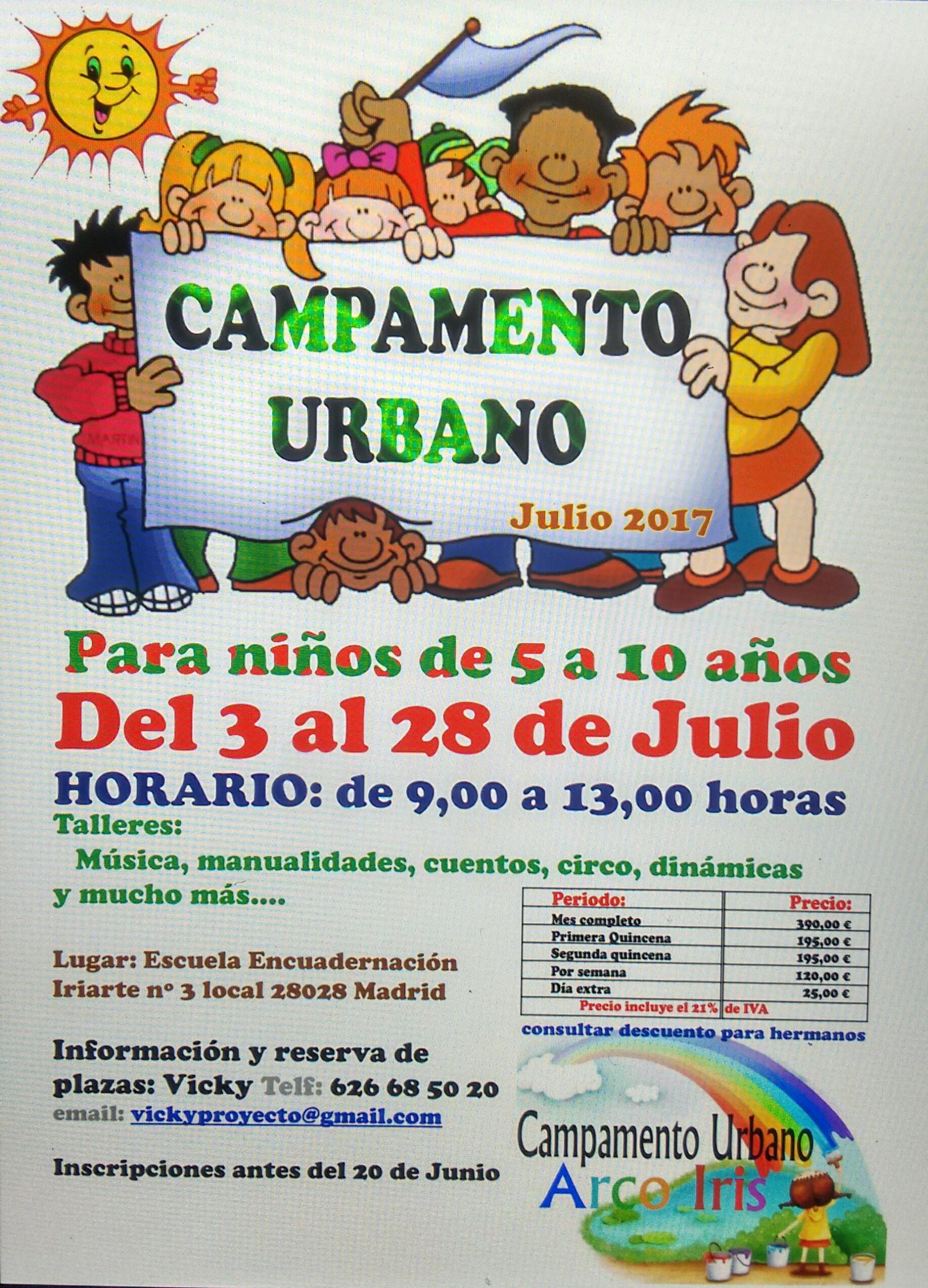 Campamento urbano Arco Iris - Madrid
