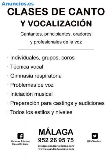 Clases De Canto. MáLaga. Principiantes. TéCnica Vocal