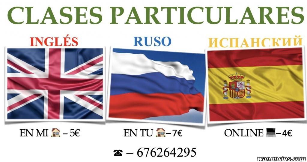 Clases particulares de inglés, ruso (nativo) y español -
