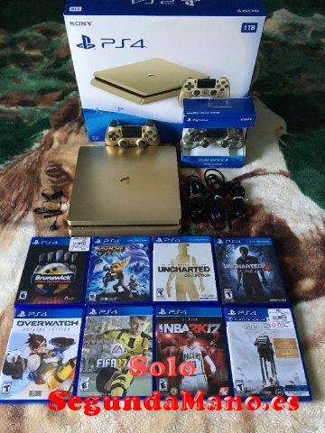 En venta Sony PS4 1TB ORO console con 8 juegos ?150