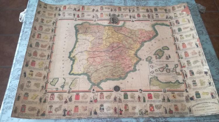 Mapa ilustrado de España .