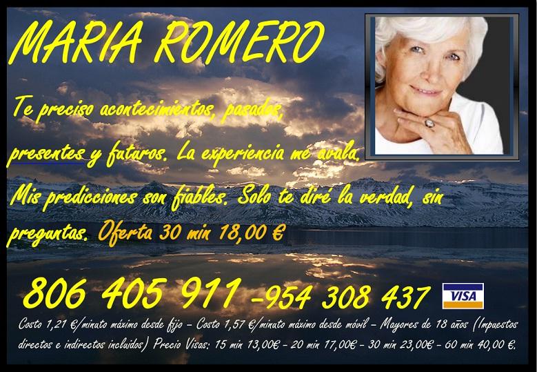 Maria romero, sin preguntas, vidente ocultista . -