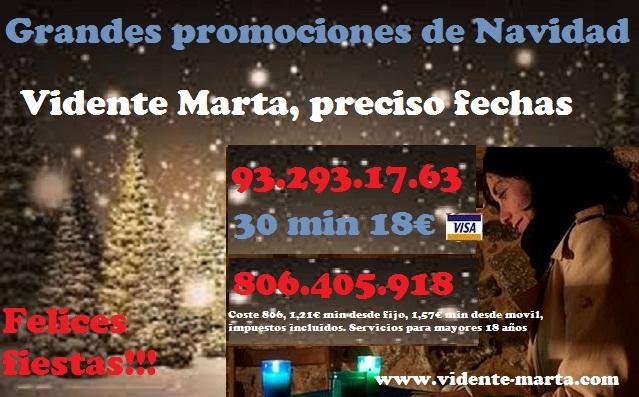 Marta vidente de nacimiento sincera y precisa oferta navidad