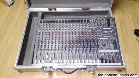 Mesa de mexclas de 20 canales mackie con estuche de aluminio