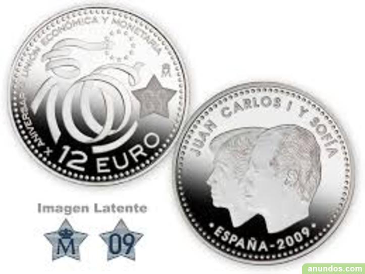 Monedas 12 euros plata varios años - Madrid Ciudad