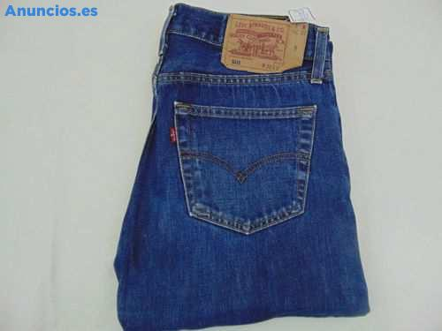 Pantalon Vaquero Levis 501 Talla 32 Color Azul Oscuro