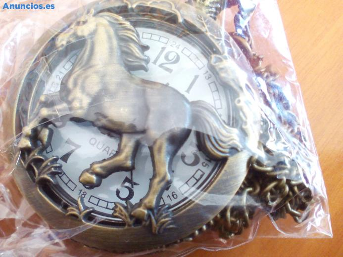 Reloj De Bolsillo Nuevo Con Grabados De Bronce