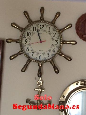 Reloj, forma timon de barco en Bronce macizo (134a)