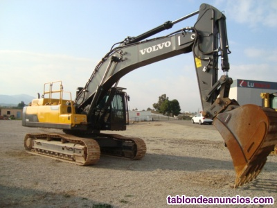 Retro excavadora giratoria de cadenas volvo ec480dl