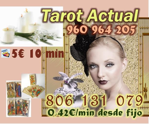 TAROT ACTUAL VIDENCIA PARA TUS DUDAS VISA 5 EUR 10 MIN 960