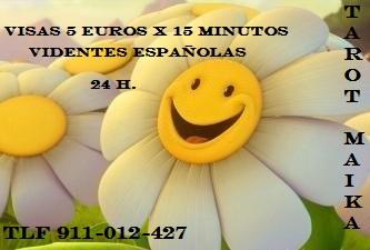 TAROT MAIKA 5 EUROS X 15 MINUTOS BARATO 24 H VIDENTES