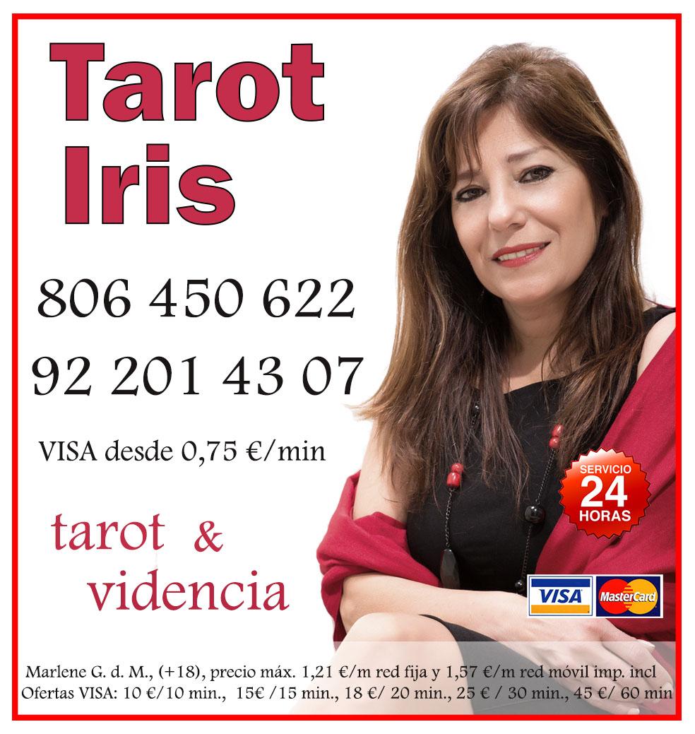 Tarot Iris. Tarot bueno y rápido. Vidente Visa económico.