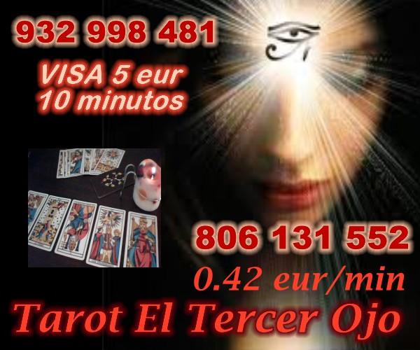 :Tarot visa 5 eur 10/min El Tercer Ojo  a 0.42m -