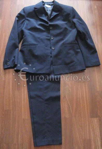 Traje chaqueta para mujer color azul marino