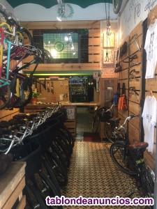 Traspaso tienda de bicicletas en el raval