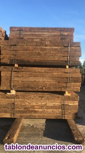 Traviesas de madera especial para jardín