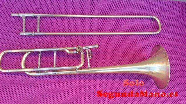 Trombón Bach 42 BO, impoluto, vara nueva, con estuche y un