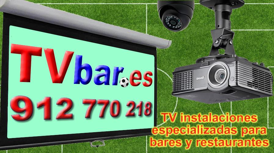 Tv bar, instalaciones de proyectores para bares y