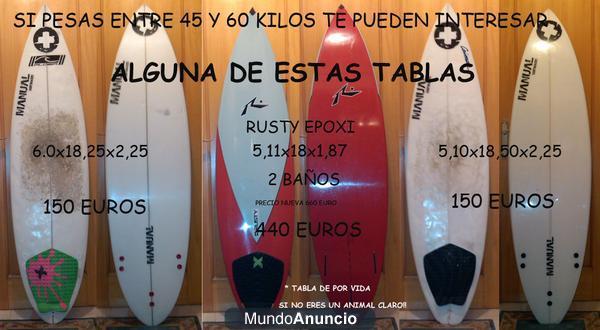 vendo tablas de surf alicante medidas cortas - Alicante
