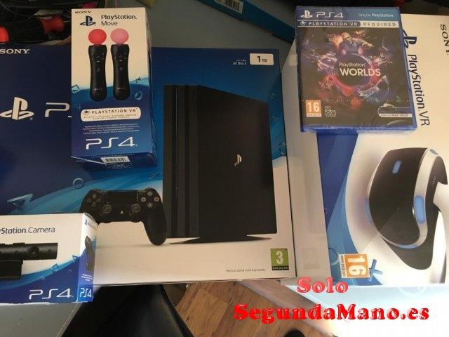 venta Sony PlayStation VR + PS4 Pro console con 7 juegos