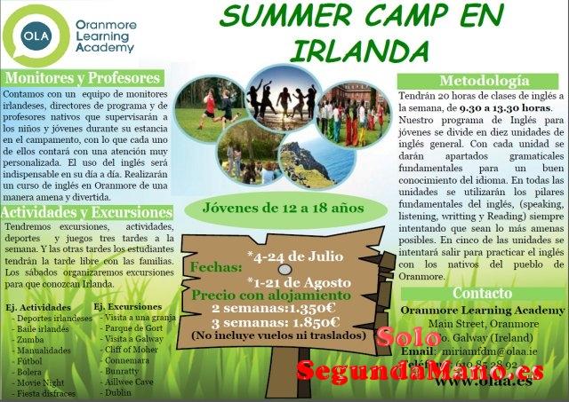 Campamento de verano en Irlanda