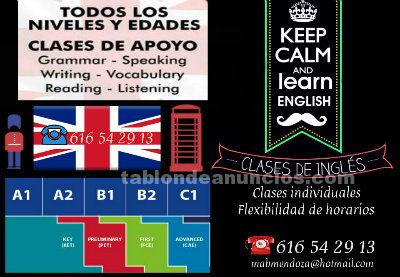 Clases de inglés individuales en ciudad real curso