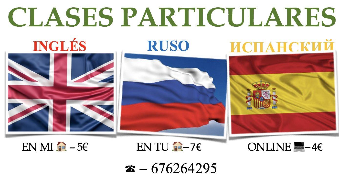 Clases particulares de inglés, ruso (nativo) y español