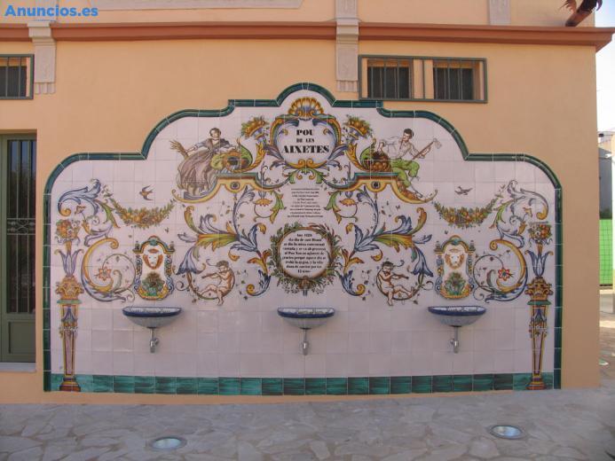 Fuente Mural De CeráMica